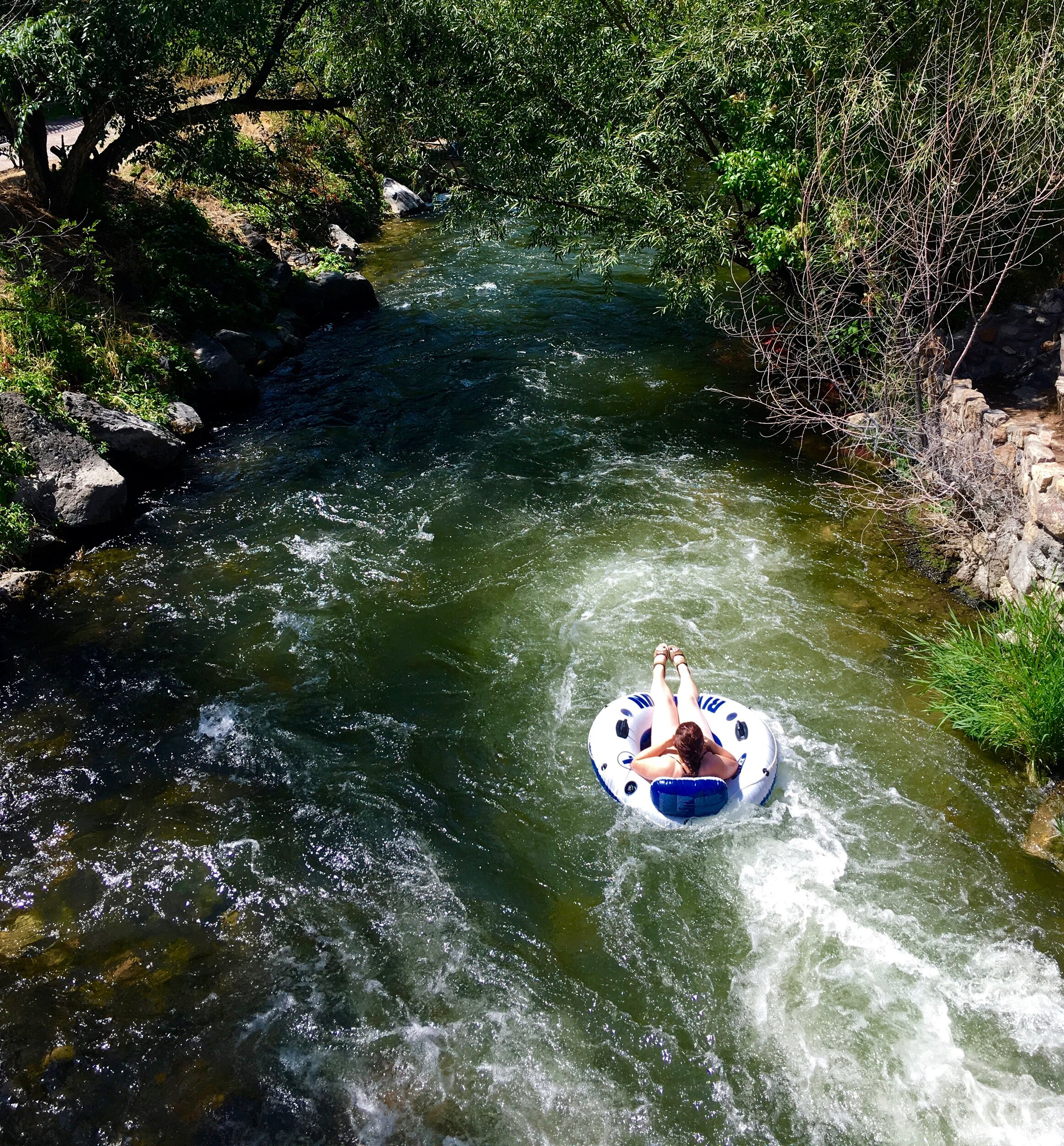 Float on a tube down the Portneuf River